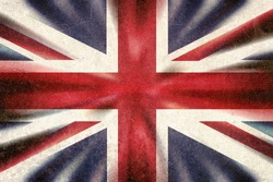 British Union Jack flag in a grunge style