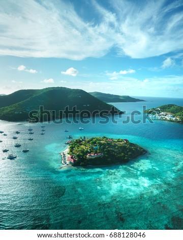 British Virgin Islands aerial #688128046