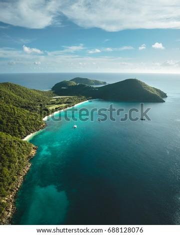 British Virgin Islands aerial #688128076