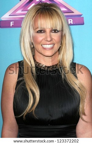 "Britney Spears at the ""The X Factor"" Season Finale News Conference, CBS Televison City, Los Angeles, CA 12-17-12"