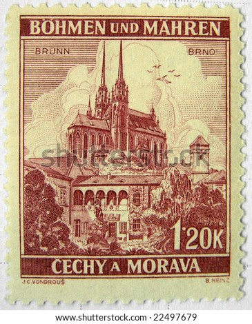 Brno (Czech Republic) mail postage stamps