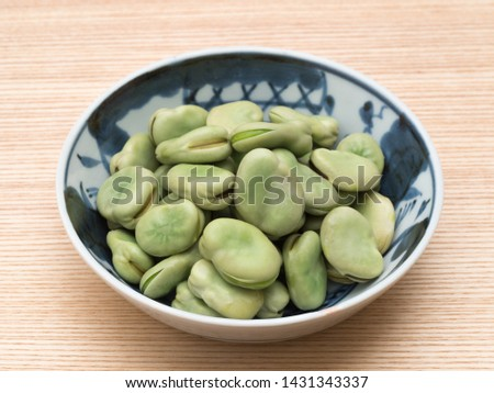 Broad bean which was salted