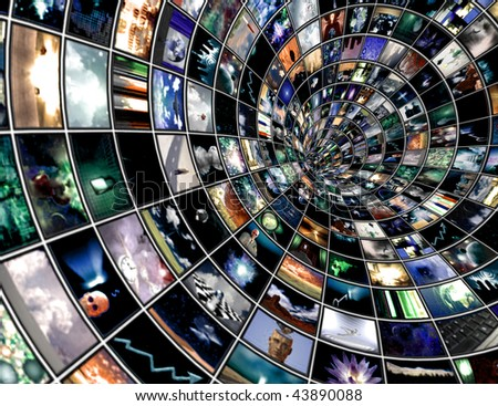 Broadcast Tunnel created entirely with images created by me and any human figures were created entirely with software and do no need a model release