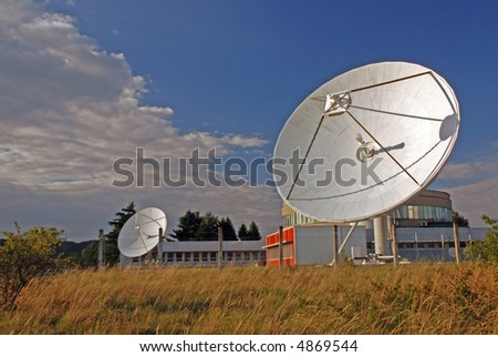 Broadcasting centre with satellites
