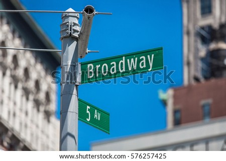 Shutterstock Broadway and 5th Ave sign