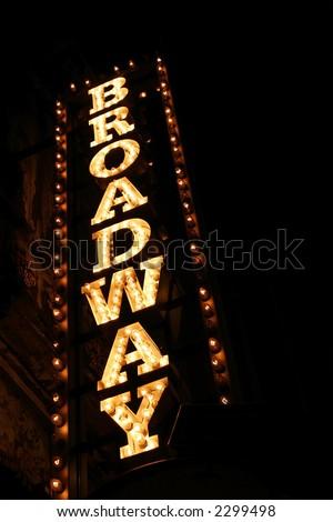 Broadway sign ストックフォト ©