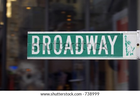 Broadway street sign, manhattan, new york, America, usa