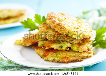 Broccoli Cheddar Fritters with Quinoa