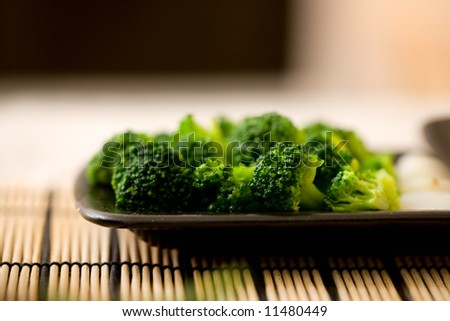 Broccoli. Freshly cut vegetables prepared for cooking