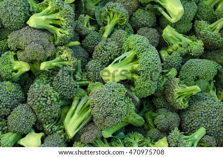 Broccoli in a pile on a market