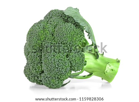 Broccoli isolated on a white background. Healthy food.