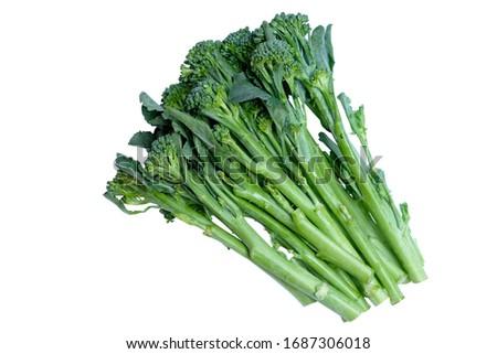 Broccoli Rabe isolated on white background. Foto stock ©