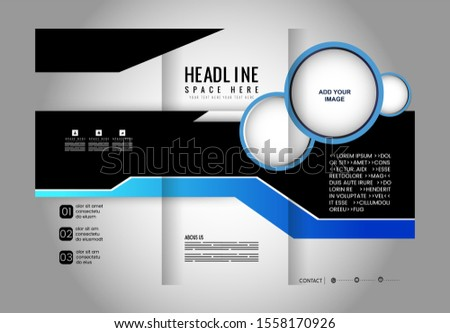 brochure design template vector trifold geometric abstract  #1558170926