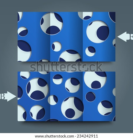 Brochure template with abstract background.                                                   #234242911