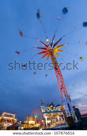 BROCKTON, USA - JULY 04: The traditional Brockton Fair in Massachusetts, USA which commemorates the Independence day, attracts thousands of locals and tourist from all over the state on July 4, 2012.