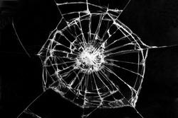 broken black glass