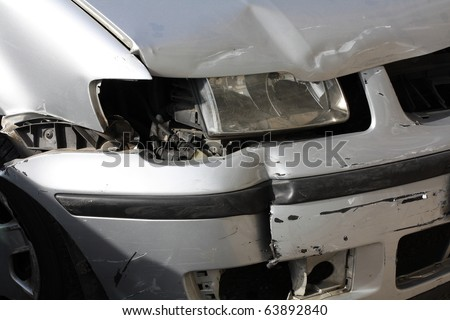 broken car headlight