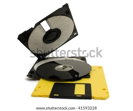 broken computer disk