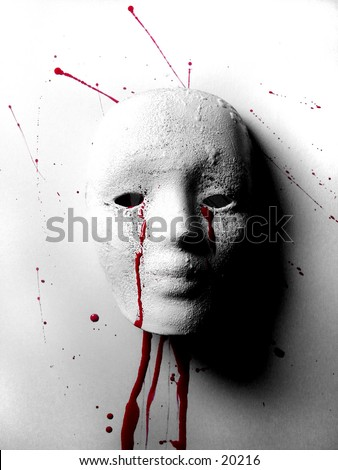 Broken Doll Battered Woman Mask