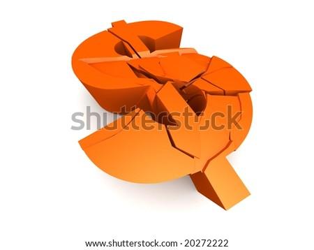 broken dollar sign