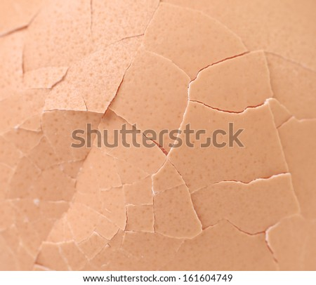 Broken egg shells close up. Whole background - stock photo