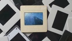 Broken Film Memories On Vintage Slide Film