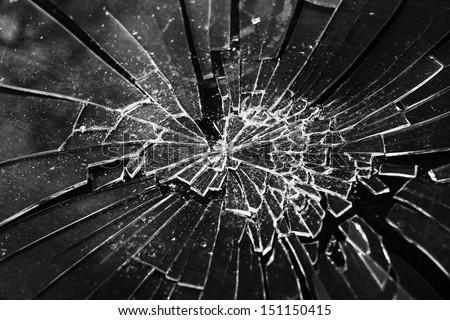Broken Glass Stock foto ©