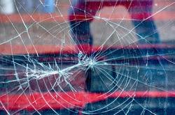 broken glass after acts of vandalism