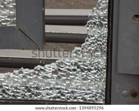broken glass and the broken pieces #1394895296
