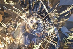 Broken glass, graphic design, rendering, fractal, effect, organized chaos, abstract, computer-generated graphics, science fiction, surreal, pattern, patterns, fantasia, art, reflection