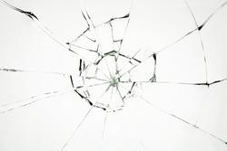 Broken glass on white background ,photo hi resolution  texture backdrop object design
