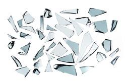 Broken glass on white background , photo hi resolution texture decoration backdrop object design