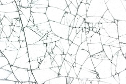 broken glass texture on white background
