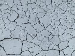 broken grey surface of cement