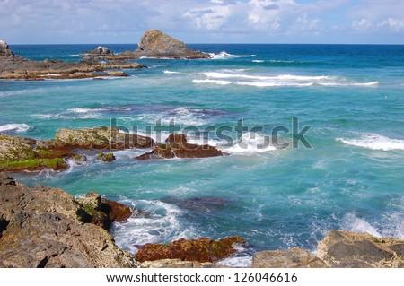 Broken Head Beach on the Gold Coast in New South Wales Australia