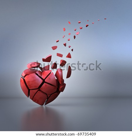 Broken heart - stock photo