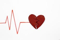 Broken Heart,  heart health and love concept