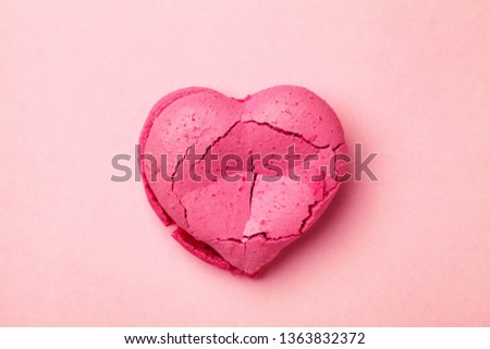 broken heart isolated on pink background, divorce, depression and breakup concept, crying, medical cardiovascular health care problems #1363832372