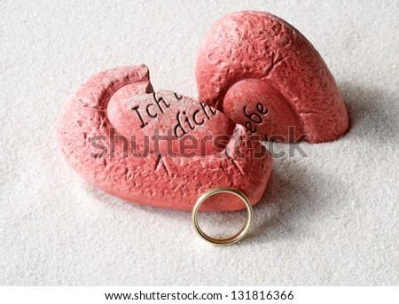 broken heart with ring