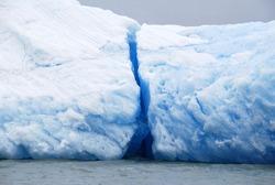 Broken iceberg in Lake Argentino, Argentina, Patagonia