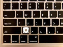 Broken Laptop keyboard the Z key is missing