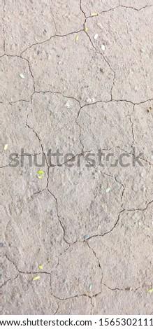 Broken mud land , naturally formed design.