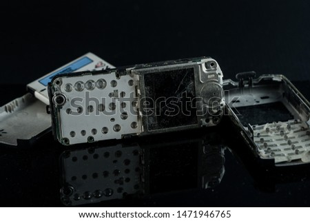 Broken obsolete mobile phones, electronic waste #1471946765