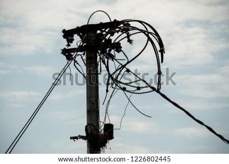 Broken powerline wires #1226802445