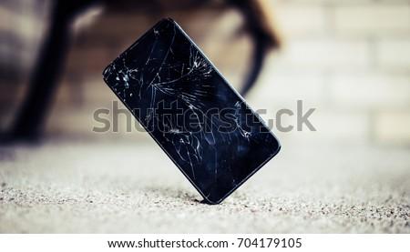 Broken screen smartphone