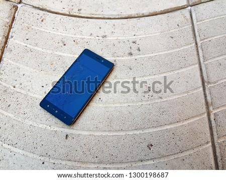broken smartphone screen #1300198687