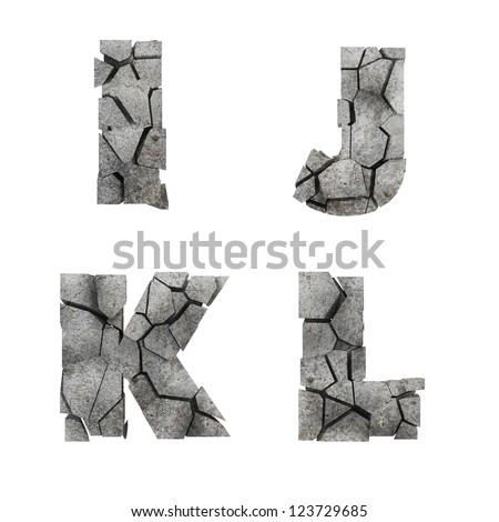 Cracked Stone Font