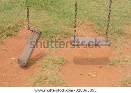Broken swing,Forgotten playground. #320363855