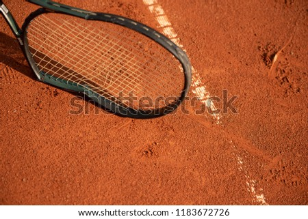 Broken tennis racket