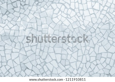 Broken tiles mosaic seamless pattern. White and Grey the tile wall high resolution real photo or brick seamless and texture interior background. #1211910811
